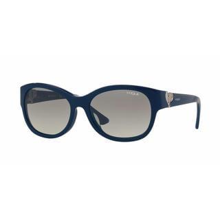Vogue Women VO5034BF 231911 Blue Plastic Rectangle Sunglasses