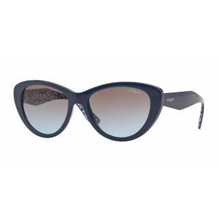 Vogue Women VO2990S 232548 Blue Plastic Cat Eye Sunglasses