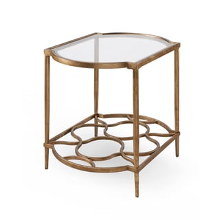 Magnussen Home Furnishings T4038 Bancroft Gold Metal Rectangular End Table