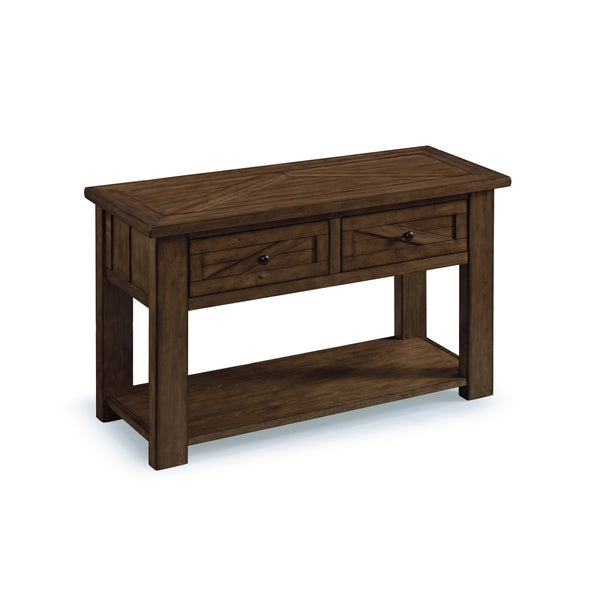 Fraser Farmhouse Rustic Pine Storage Console Table