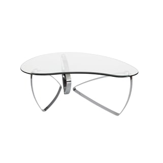 Magnussen Home Furnishings T3507 Nico Chrome/Clear Glass/Metal Shaped Cocktail Table