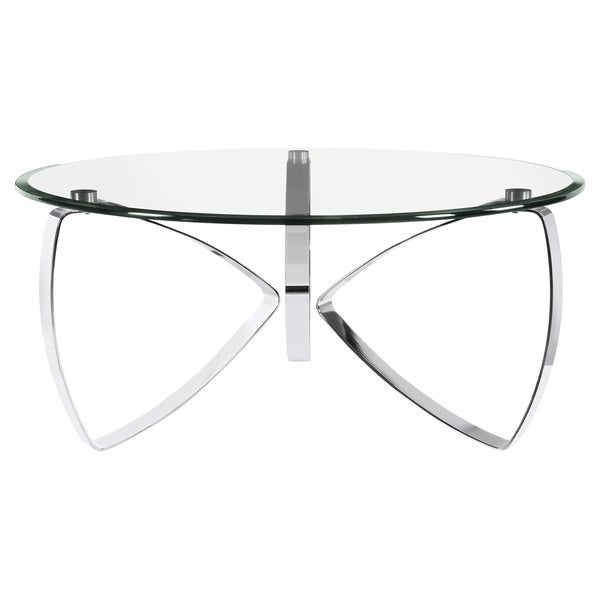 Charmant Shop Nico Modern Chrome Round Glass Top Cocktail Table   On Sale   Free  Shipping Today   Overstock   13321522