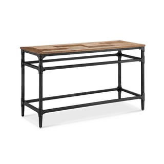 Dylan Light Industrial Umber and Gun Metal Entryway Console Table
