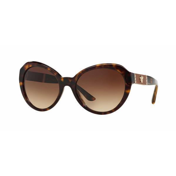 0357ec1d2eb17 Shop Versace Women VE4306Q 108 13 Brown Phantos Sunglasses - Free Shipping  Today - Overstock.com - 13322302