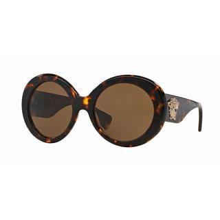 Versace Women VE4298A 514873 Brown Plastic Round Sunglasses