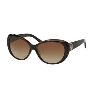 Tory Burch Women TY7005 TORY C03 510/8 Havana Plastic Cat Eye Sunglasses