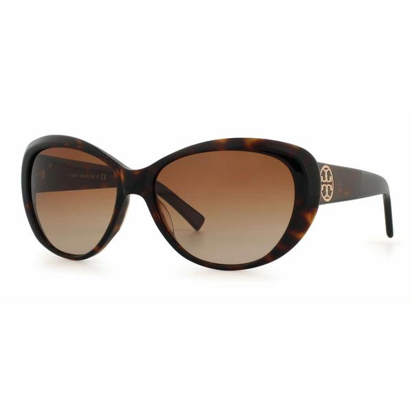 74754f315391 Tory Burch Women TY7005 TORY C03 510 8 Havana Plastic Cat Eye Sunglasses