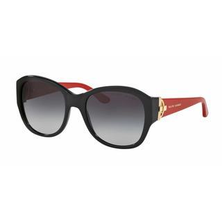 Ralph Lauren Women RL8148 50018G Black Plastic Square Sunglasses