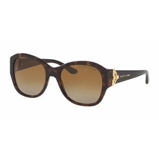 Ralph Lauren Women RL8148 5003T5 Havana Plastic Square Sunglasses
