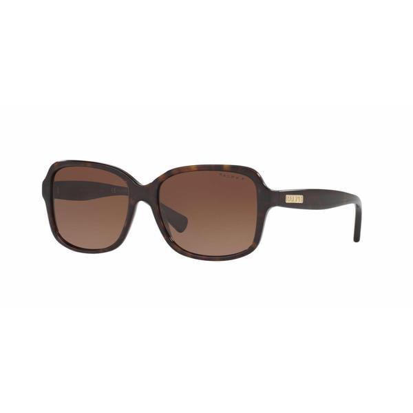 5aaabc6fe85ca Shop Ralph Women RA5216 1378T5 Havana Plastic Rectangle Sunglasses -  Brown Tortoise - Free Shipping Today - Overstock - 13322416