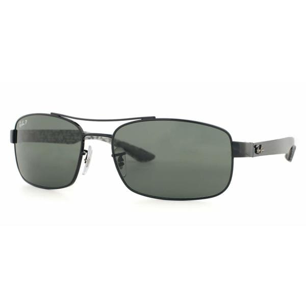 37a40123a1 Shop Ray Ban Women RB8316 002 N5 Black Metal Rectangle Sunglasses ...