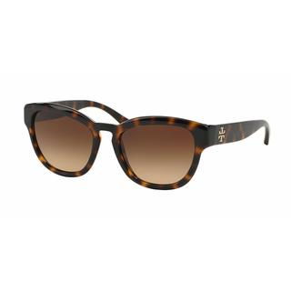 Tory Burch Women TY9040 137813 Havana Plastic Square Sunglasses