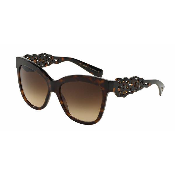 53b0d32a0fea Shop Dolce Gabbana Women DG4264 502 13 Havana Plastic Square Sunglasses -  Free Shipping Today - Overstock - 13322600