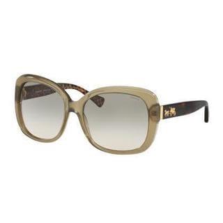 Coach Women HC8158 L139 53952C Green Plastic Square Sunglasses