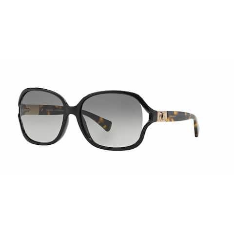 Coach Women HC8121 L095 CARROLL 526311 Black Plastic Square Sunglasses