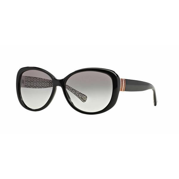 93fe6e9877 Shop Coach Women HC8040BF L520 508311 Black Plastic Cat Eye Sunglasses - Free  Shipping Today - Overstock - 13322703
