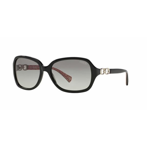 9f067299df Shop Coach Women HC8019 BEATRICE 503411 Black Plastic Rectangle Sunglasses  - Free Shipping Today - Overstock - 13322707