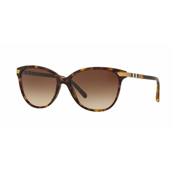 Burberry Women BE4216F 300213 Havana Plastic Cat Eye Sunglasses