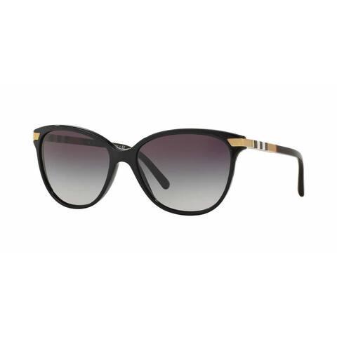 Burberry Women BE4216F 30018G Black Plastic Cat Eye Sunglasses