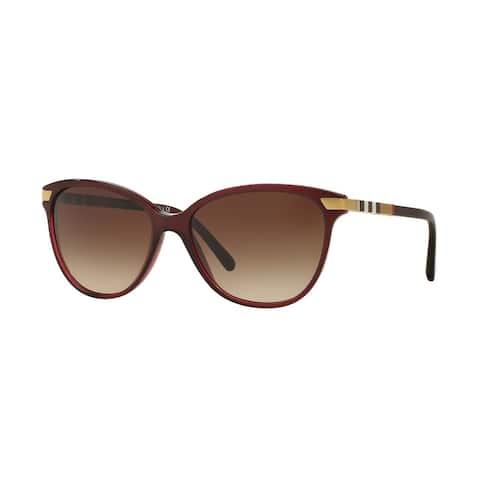 Burberry Women BE4216 301413 Bordeaux Plastic Cat Eye Sunglasses