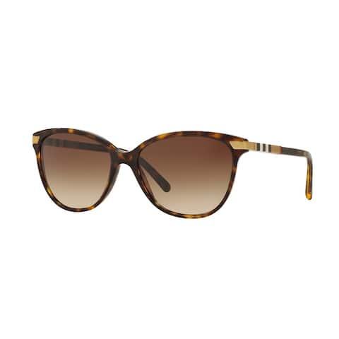 Burberry Women BE4216 300213 Havana Plastic Cat Eye Sunglasses
