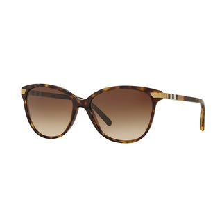 Burberry Women BE4216 300213 Havana Plastic Cat Eye Sunglasses