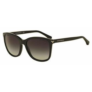 Emporio Armani Women EA4060 50178G Black Plastic Square Sunglasses
