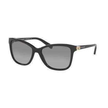379c92961c Shop Coach Women HC8187B L1597 500211 Black Plastic Rectangle Sunglasses - Free  Shipping Today - Overstock - 13322765