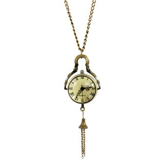 American Coin Treasures Glass Ball Bronze Watch Necklace