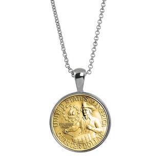 American Coin Treasures Gold-layered Bicentennial Washington Quarter Coin Pendant