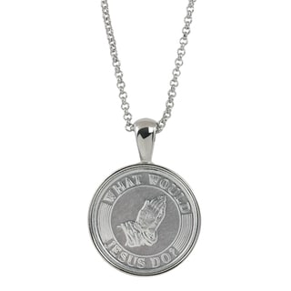 American Coin Treasures 'What Would Jesus Do' Silver-tone Metal Pendant Necklace