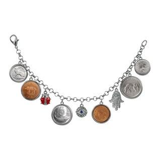 American Coin Treasures 'Lucky Coin' Silver-tone Charm Bracelet