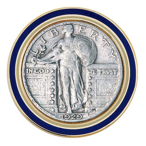 American Coin Treasures Silver Standing Liberty Quarter Coin Lapel Pin