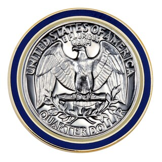 American Coin Treasures Proof Washington Quarter Lapel Pin