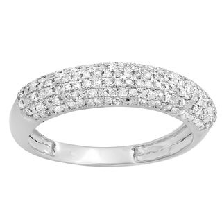 10k White Gold 1/4ct TDW Round Diamond Anniversary Wedding Band Ring (I-J, I2-I3)