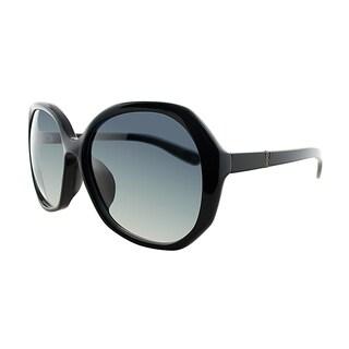 Bottega Veneta BV 194/F 807 Black Plastic Square Grey Gradient Lens Sunglasses