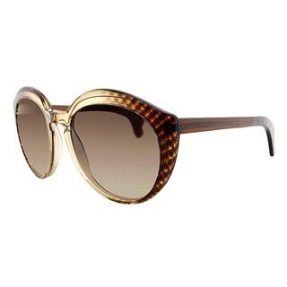 Bottega Veneta BV 195 SJ9 Brown Plastic Cat-Eye Brown Gradient Lens Sunglasses