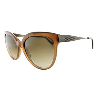Bottega Veneta BV 245 F2C Brown Plastic Round Brown Gradient Lens Sunglasses
