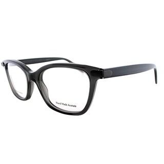 Bottega Veneta BV 223 4PY Grey Plastic Cat-Eye Eyeglasses 50mm