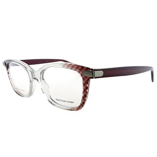 Bottega Veneta BV 223 SK4 Clear Burgundy Plastic 50mm Cat-eye Eyeglasses