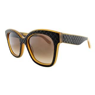 Bottega Veneta BV 297 TG5 Brown Orange Plastic Square Brown Gradient Lens Sunglasses