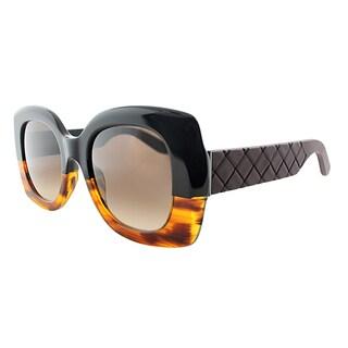 Bottega Veneta BV 299 TM6 Black Havana Plastic Square Brown Gradient Lens Sunglasses