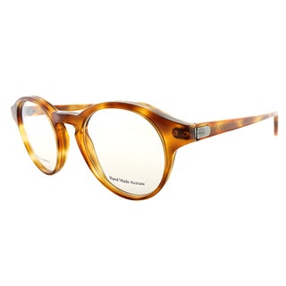 Bottega Veneta Havana Honey Brown Plastic Round Eyeglasses