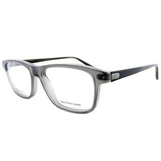 Bottega Veneta Grey Transparent Plastic Rectangle Eyeglasses