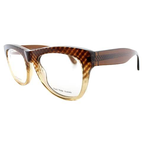 Bottega Veneta Brown Plastic Rectangle Eyeglasses
