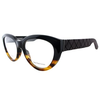 Bottega Veneta Women's Black Havana Cat-eye Eyeglasses (53mm)
