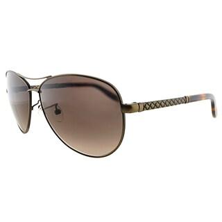Bottega Veneta BV 252/F SJI Brushed Bronze Metal Aviator Brown Gradient Lens Sunglasses