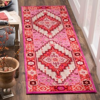 Safavieh Bellagio Handmade Bohemian Red/ Pink Wool Rug - 8' x 10'