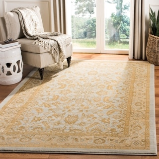 Safavieh Austin Traditional Light Blue/ Gold Rug (8' x 11')
