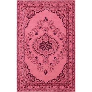 Safavieh Handmade Glamour Contemporary Bohemian Pink Viscose Rug (2' x 3')